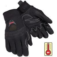 Tourmaster Airflow Black Mesh Motorcycle Gloves - Mens XS-3XL