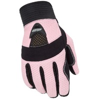 Tourmaster Ladies Airflow Pink Mesh Motorcycle Gloves - Womens Small-Large