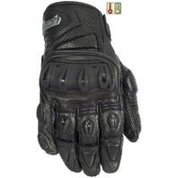 Cortech Impulse ST Gloves w/Impact Protection - Black - Men's Sizes XS-4XL