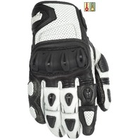 Cortech Impulse ST Gloves w/Impact Protection - White/Black - Men's Sizes XS-4XL