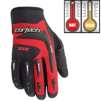 Cortech DX 2 Red/Black Motorcycle Gloves - Youth & Adult Sizes