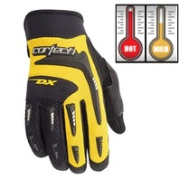 Cortech DX 2 Yellow/Black Motorcycle Gloves - Youth & Adult Sizes