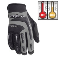 Cortech DX 2 Silver/Black Motorcycle Gloves - Youth & Adult Sizes