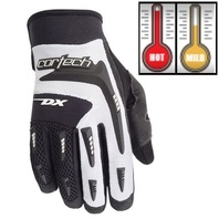 Cortech DX 2 White/Black Motorcycle Gloves - Youth & Adult Sizes