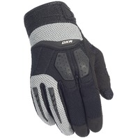 Cortech DXR Silver/Black Performance Motorcycle Gloves - Men's XS-3XL