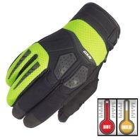 Cortech DXR Hi-Viz/Black Performance Motorcycle Gloves - Men's XS-3XL