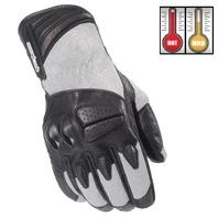 Cortech GX Air 3 Silver/Black Motorcycle Gloves - Men's XS-3XL
