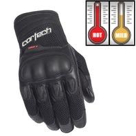 Cortech HDX 3 Black Leather & Textile Motorcycle Gloves - Men's XS-3XL