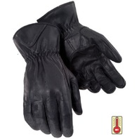 Tourmaster Select Summer Black Leather Motorcycle Gloves - Men's XS-2XL