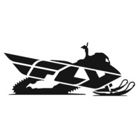 Fly Racing Snowmobile Eight Inch Sticker - FLY SNOW 8""