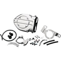 Kuryakyn 9992 Chrome Blood Groove Hypercharger for 99-17 Harley Davidson FL FX