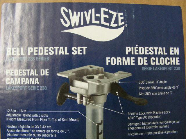 Details about Attwood Swivl-Eze Mount Base Seat Pedestal Adjut  Height  12 5