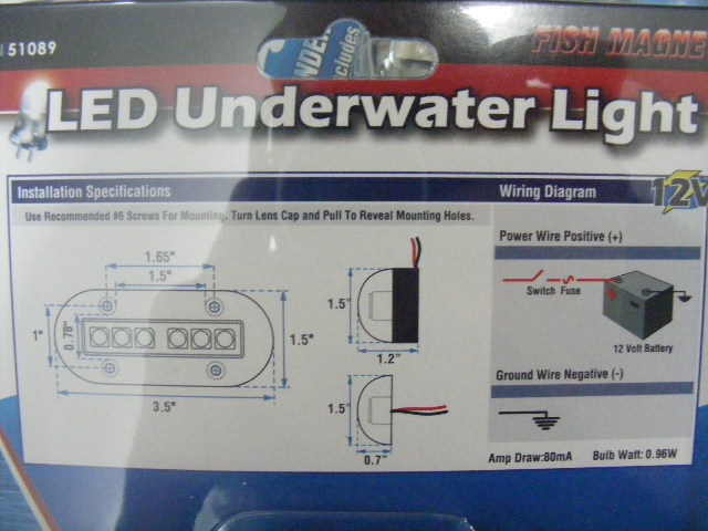 Boater sports high intensity blue led underwater light 1 51089 51089 click thumbnails to enlarge asfbconference2016 Images