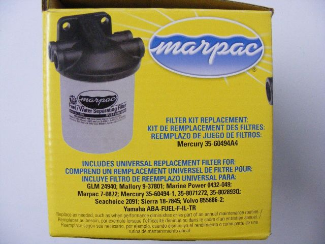 Water Separator Filter Kit With Composite Head Boat Marine Racor Inside Fuel