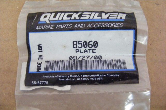 NEW OEM Mercury Mariner Quicksilver Plate 85060 Outboard