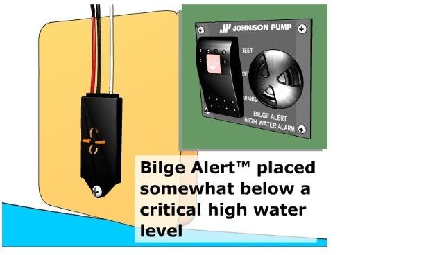 Johnson Pump Bilge Alert 12 Volt High Water Alarm W  Sensor