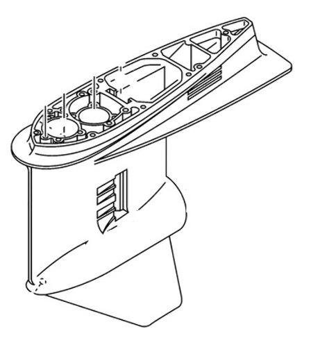 Yamaha 150 175 200 Hp 2 Stroke Gearcase Housing 6j9 45301 05 Na