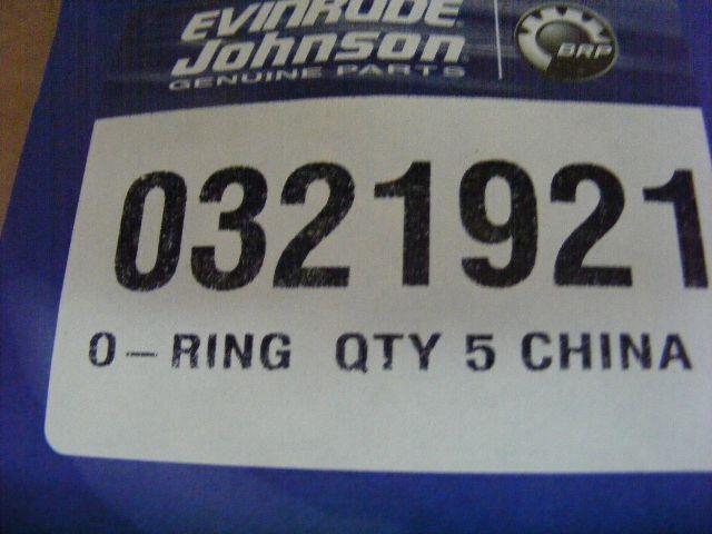 Johnson Evinrude Outboard Motor O-Ring 0321921 321921