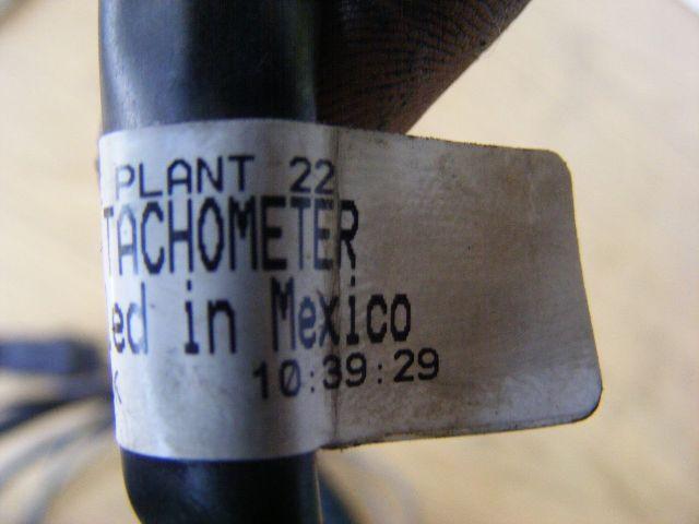 Mercury Marine Plant 22 Cable Harness Tachometer