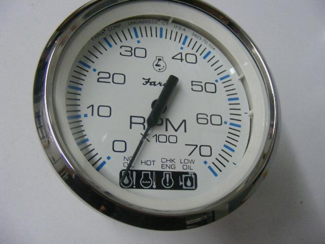 Johnson Evinrude Faria Chesapeake White SS Tachometer with – Johnson Faria Tachometer Wiring