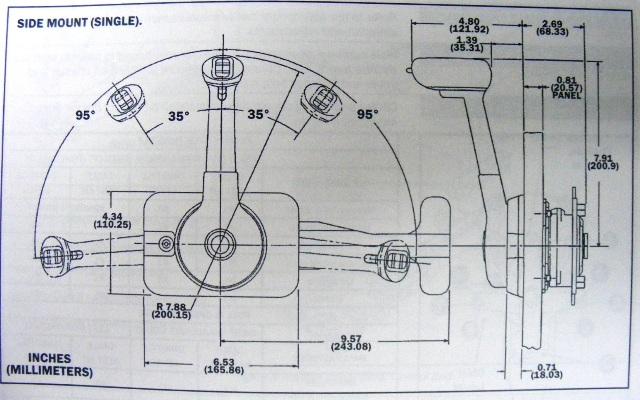 honda mercury seastar sl 3 remote control box side mount shifter rh ebay com mercury control box parts diagram mercury throttle control box diagram