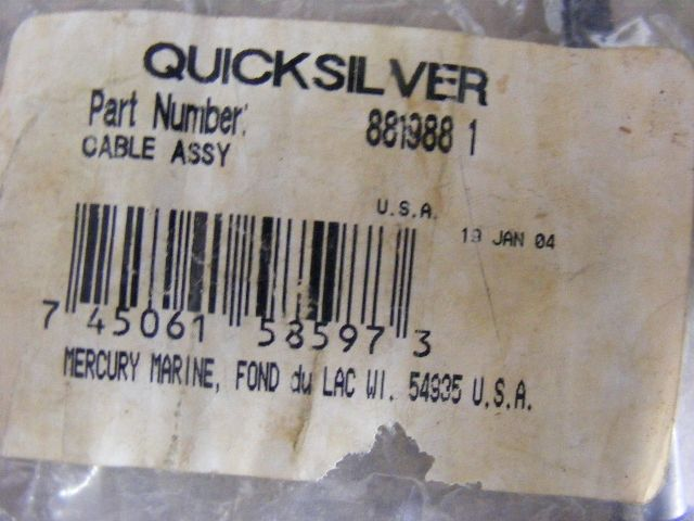 Details about NEW Mercury 75-80-90-115 HP Throttle Body Cable 881988 1 Assy  Quicksilver