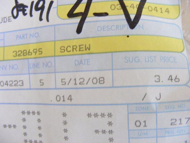 Johnson Evinrude Screw 328695 Rod