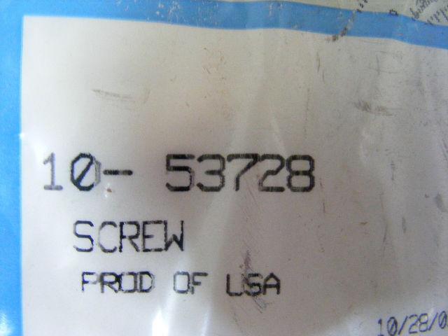 New Mercury Mercruiser Quicksilver Oem Part # 10-53728 Screw