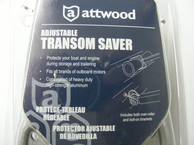 """Attwood Corporation SP-400-RB 23/""""-35/"""" Composite Head Transom Saver with roller"""