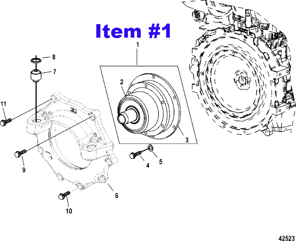 Nib mercruiser diesel engine coupler coupling 805684a2 for click thumbnails to enlarge sciox Choice Image