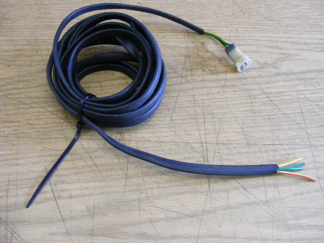 yamaha outboard harness gauge cable wire w 4 pin male & cut side ebay yamaha outboard paint yamaha outboard harness gauge cable wire w 4 pin male & cut side