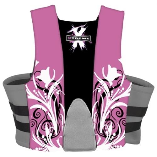 Xtreme Water Sports Women/'s Neoprene Life Jacket Vest Pink//Grey Medium