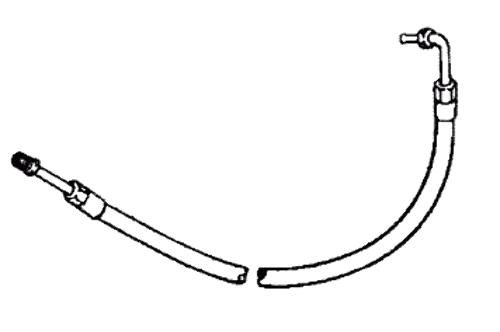 mercruiser power steering pressure hose 90 degree fittings