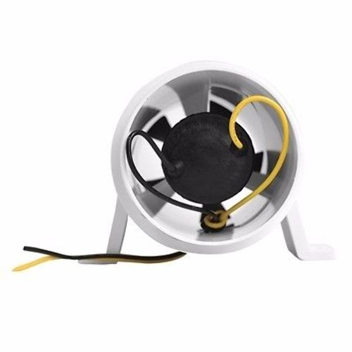White In-Line Ventilation Boat Engine 3-Inch Turbo 3000 Water Resistant Blower