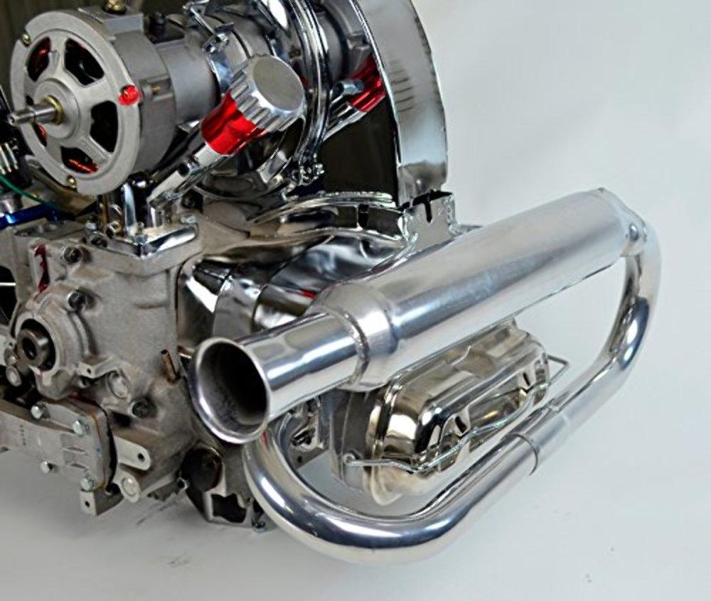 dual exhaust system ceramic dune buggy vw baja bug pirate mfg