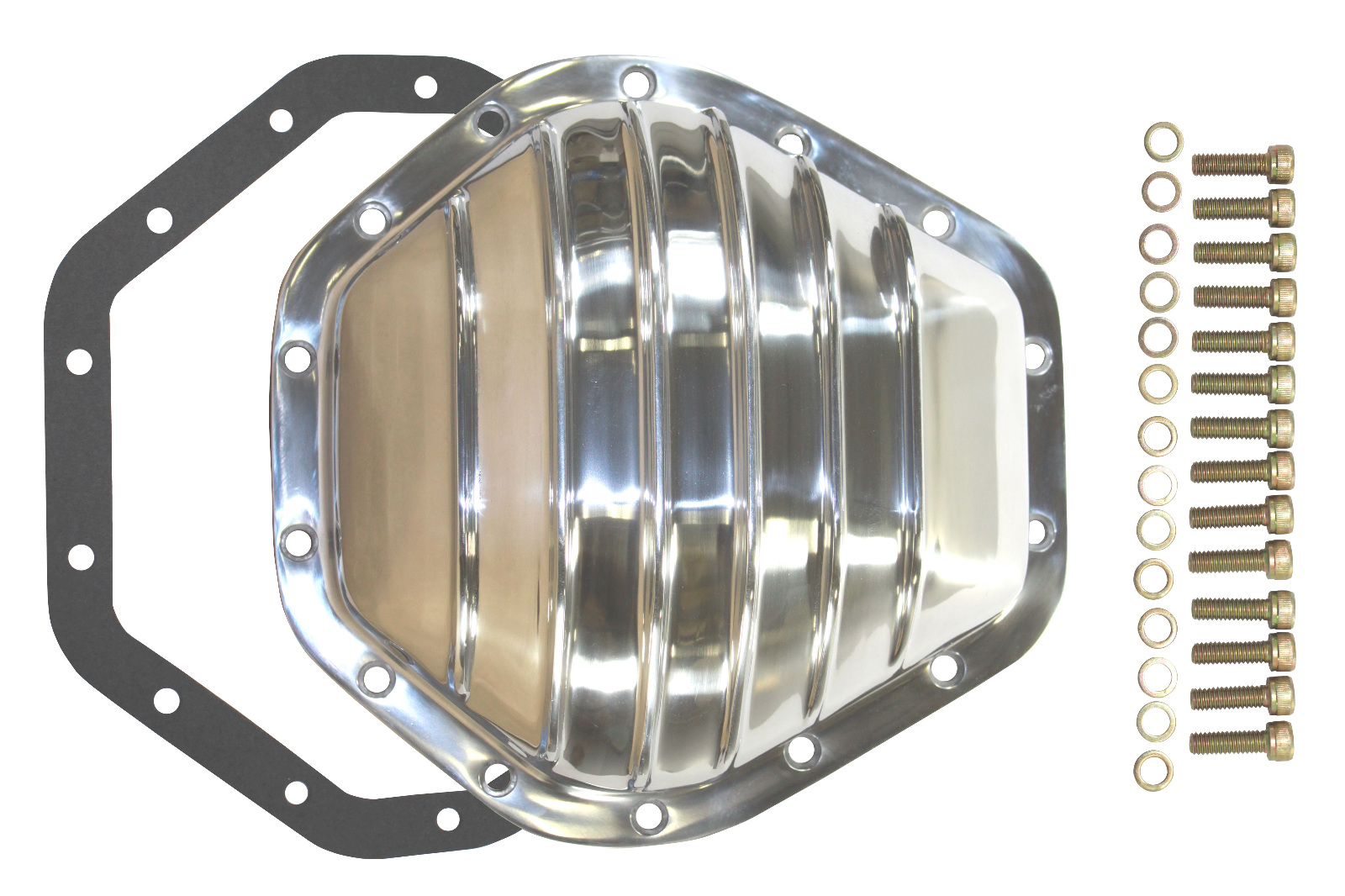 Polished aluminum chevy gmc 14 bolt diff 10 5 rg differential cover 2500hd 3500hd