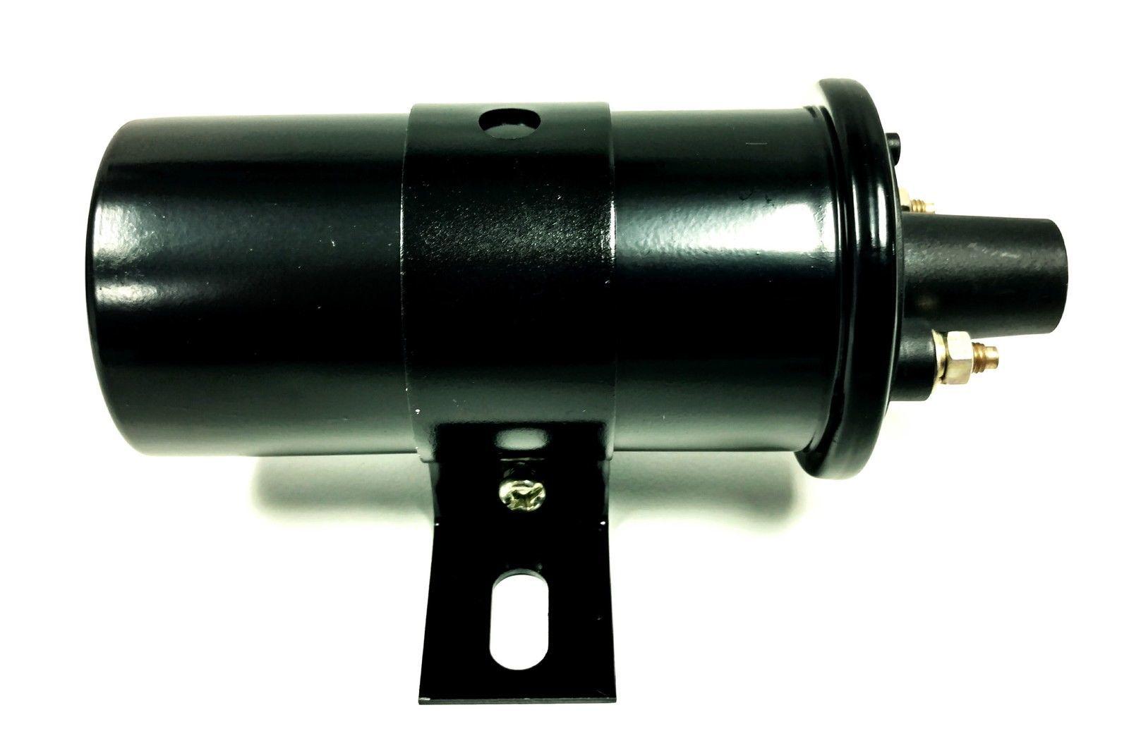 black 40 000 volt ignition coil 12 volt street hot rat rod
