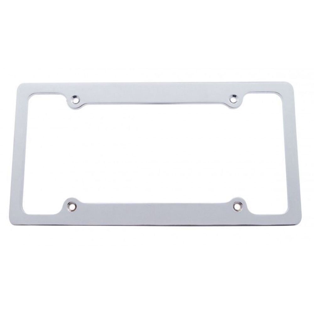 Aluminum License Plate Frame >> Chrome Finish Billet Aluminum License Plate Frame 4 Hole Mount