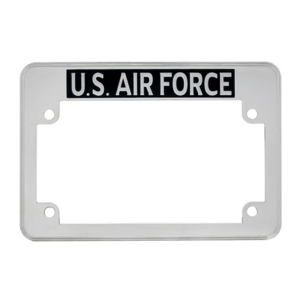 us air force motorcycle license plate frame fits harley chipper triumph more - Motorcycle License Plate Frames