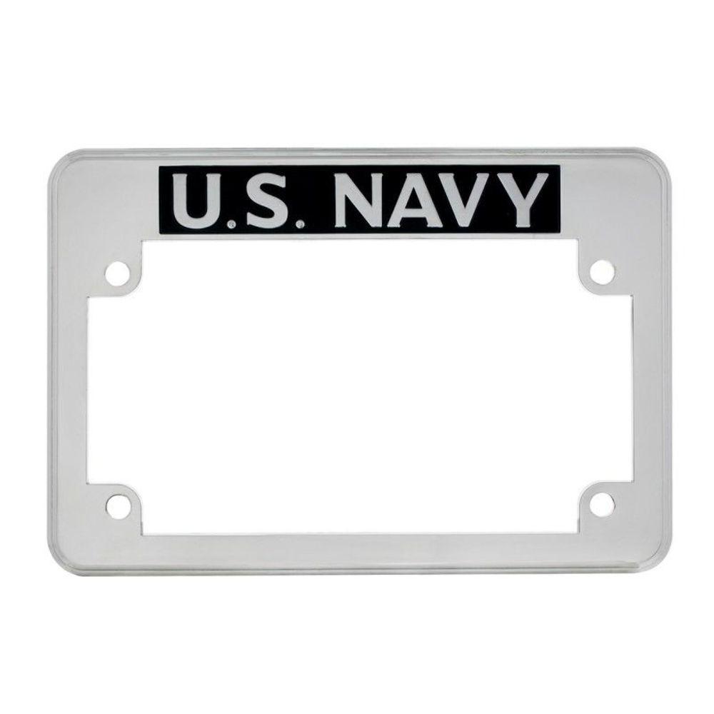 U.S. Navy Motorcycle License Plate Frame - FITS HARLEY CHOPPER ...