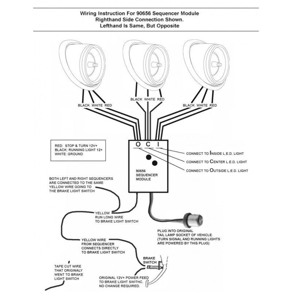 Wiring Diagram For Sequential Tail Lights Blog Integrated Light Upi 90656 Led Kit Sequentially Blinks 3