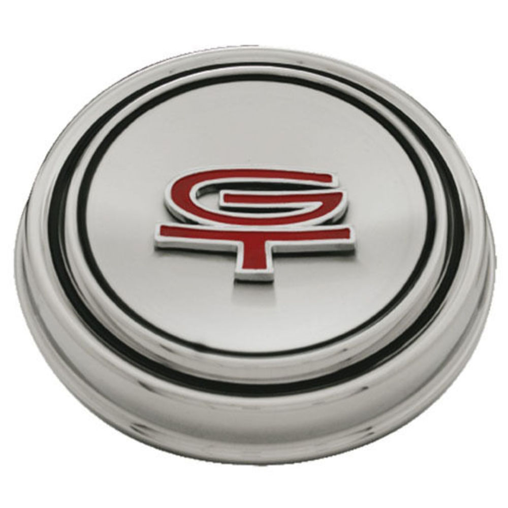 1967 68 ford mustang gt hub cap stainless steel w gt. Black Bedroom Furniture Sets. Home Design Ideas