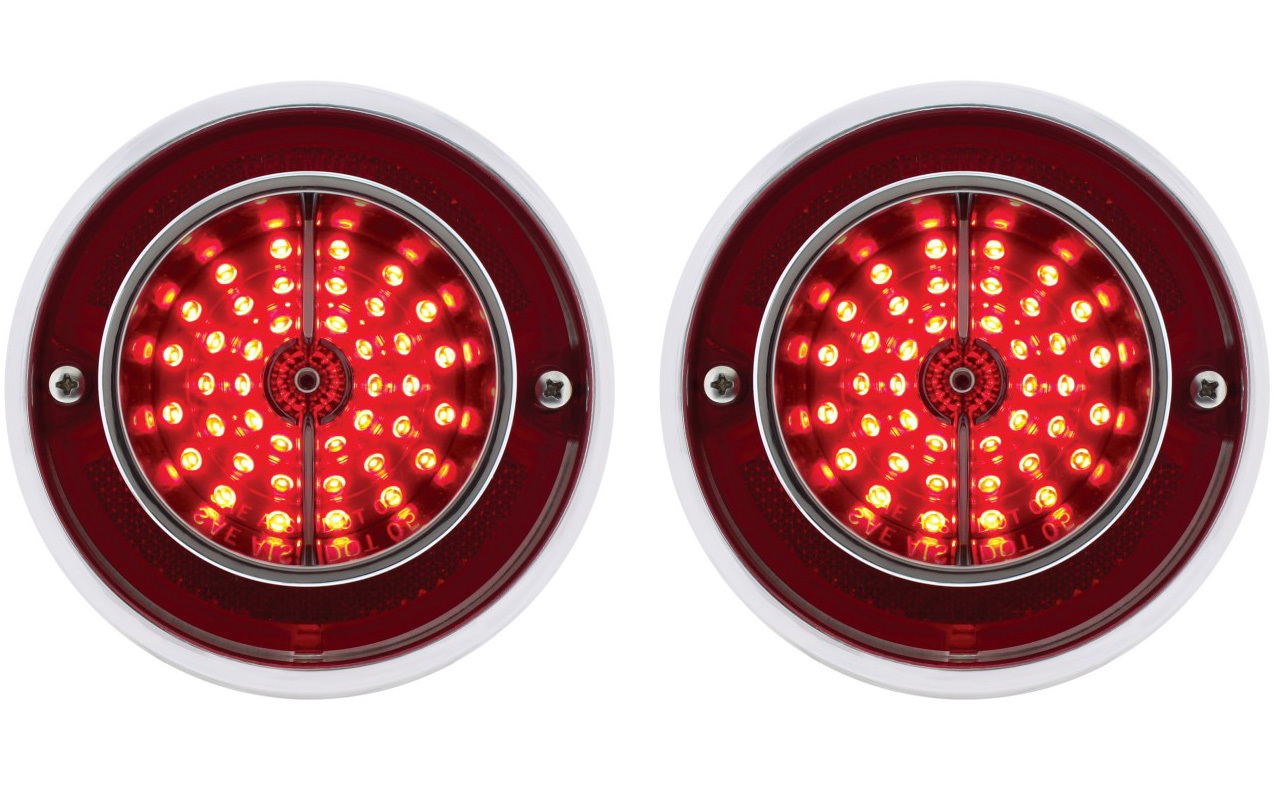 2 1963 Chevy Impala Led Lights With Housing Pair Complete