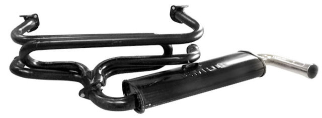 Vw Type 1 Bug Ghia 13001600 Single Quiet Exhaust System Small Flange 3647: Vw 1600 Exhaust System At Woreks.co