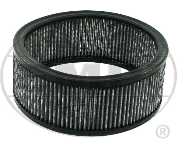 """EMPI VW Bug 6-3//8/"""" Round Air Cleaner  1-3//4 /"""" Tall Gauze Element Only 9006"""