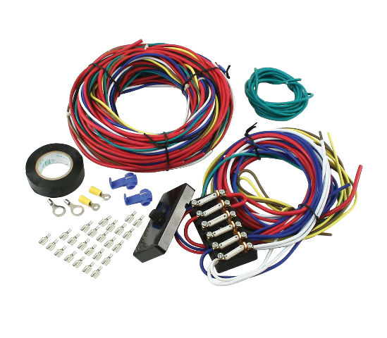00 9466 0 empi vw dune buggy sand rail baja universal wiring harness with fuse box 9466 universal truck wiring harness diagram wiring diagrams for diy ez wiring horn relay at cos-gaming.co