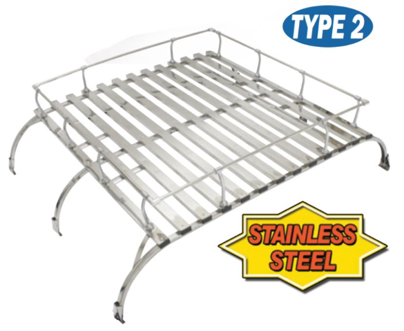 VW Bus Westfalia S. Steel Roof Rack, Classic Knock Down Style Type 2 1950-1979