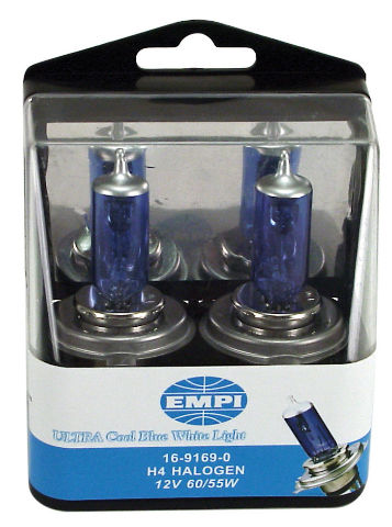 EMPI  VW Replacement  Bulbs H4 12V 130//100W Ultra Cool Gold White Light 16-9176