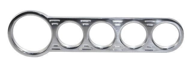 Billet Aluminum CHROME 5 Gauge Street Rod  Hot Rod Universal Gauge Panel 16-9821
