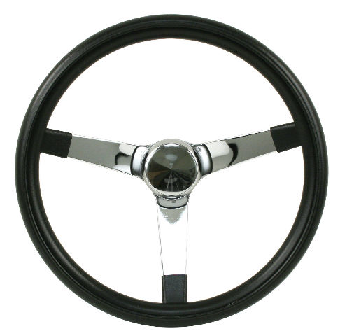 "Steering Wheel 14-3/4 - 4"" Dish Rat Rod Hot  VW Dune Buggy Sand Rail 79-4013"